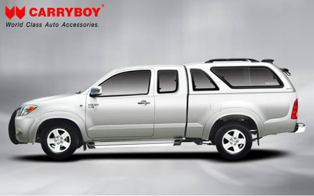 Carryboy Hardtop Modell 560-TRC Hardtop mit Schiebefenster Toyota Hilux Revo Extrakabine 2016+_2021+ Invincible Qualität und Design