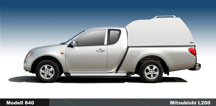 CARRYBOY Hardtop mit Überhöhe 840oS-MTC Mitsubishi L200 Extrakabine Clubcab 2005-2015 GFK Hardtop extrem stabil