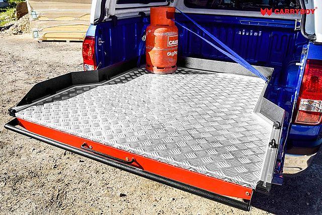 CARRYBOY Ladebodenauszug ausziehbarer Ladeboden 350kg Premium Aluminium Vollbett Schublade