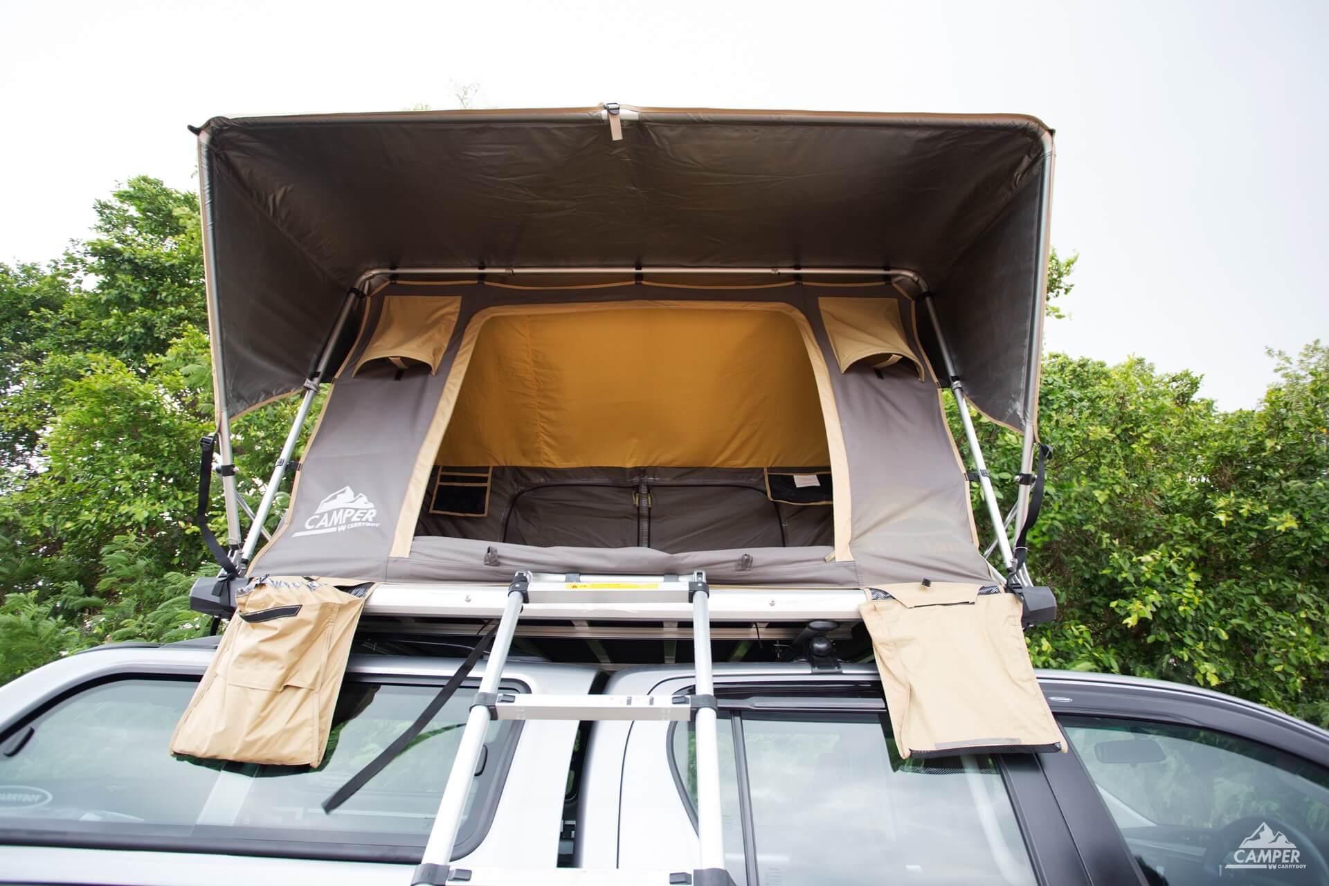 Carryboy Camper Dachzelt für 2 bis 3 Personen für alle Fahrzeuge inklusive kleiner Markise