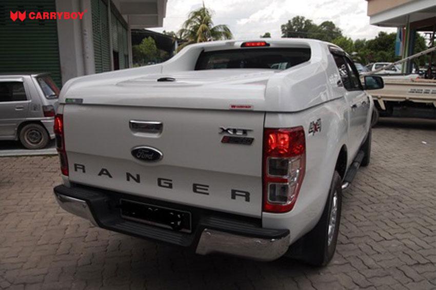 CARRYBOY Laderaumabdeckung Deckel Fullbox für Ford Ranger Doppelkabine 2012+ sportlich Wagenfarbe