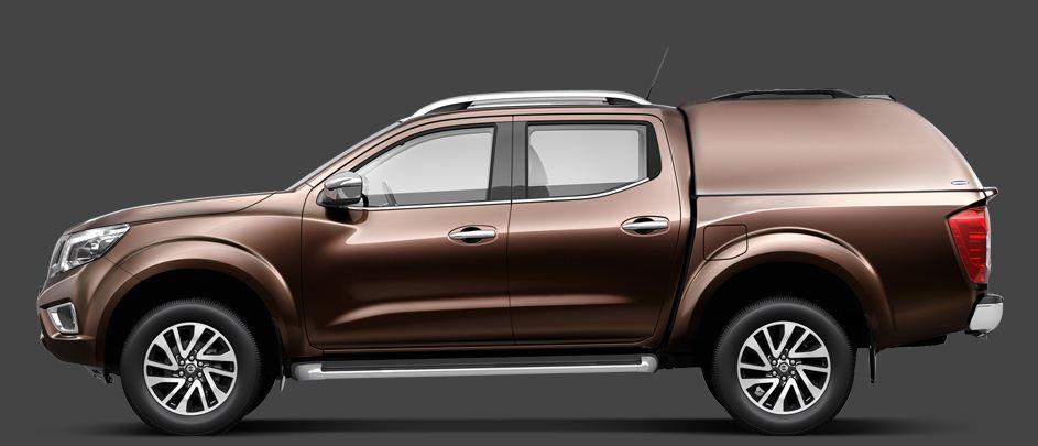 Renault Alaskan Doppelkabine CARRYBOY Hardtop 560os seitlich geschlossen in Wagenfarbe lackiert