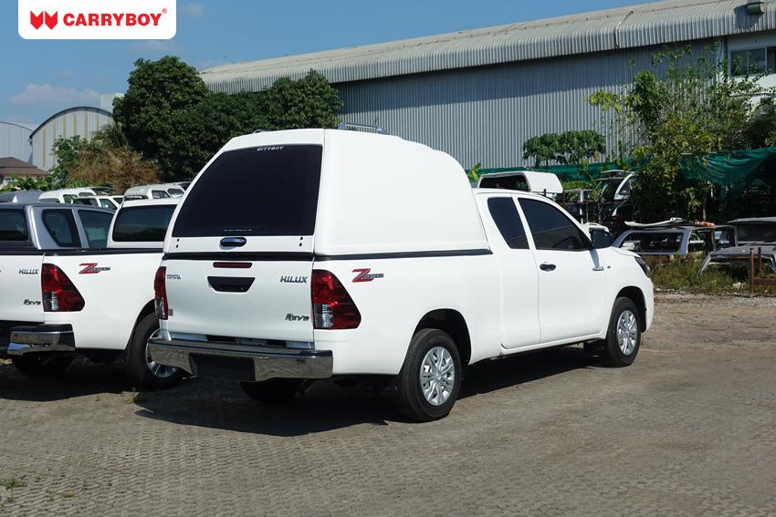 CARRYBOY Hardtop mit maximaler Höhe ohne Seitenfenster 840oS Extrakabine Pickup