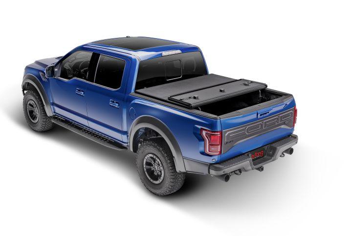 NOVISauto Laderaumabdeckung Faltbar Überkante Ford F150 2021+ einfache Montage ohne Bohren Klemmbefestigung