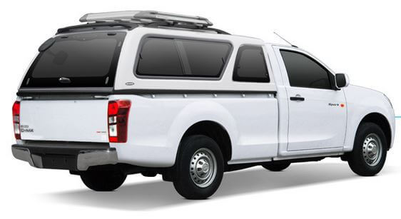 CARRYBOY Hardtop 560-IM für Isuzu D-Max Singlecab 2002-2011 seitliche Schiebefenster