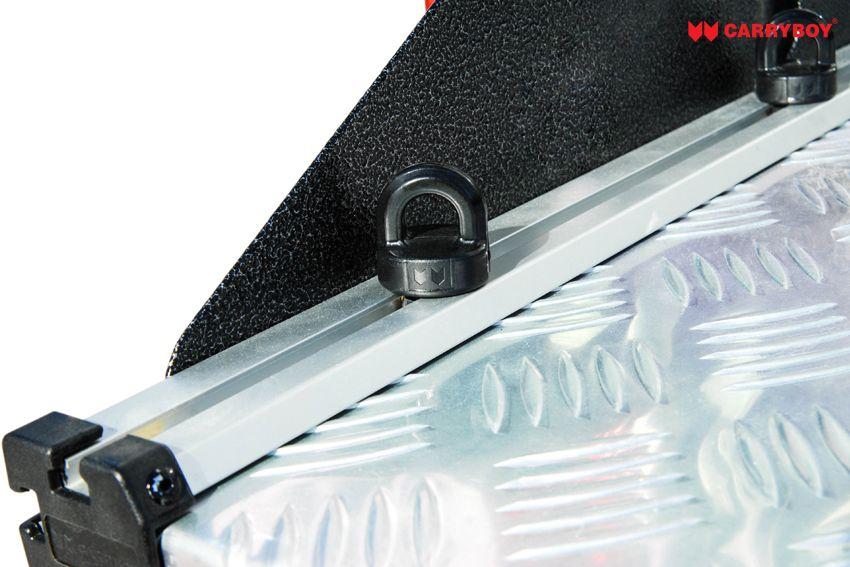 CARRYBOY Ladebodenauszug ausziehbarer Ladeboden 350kg Premium Aluminium Vollbett Schublade Verzurrösen