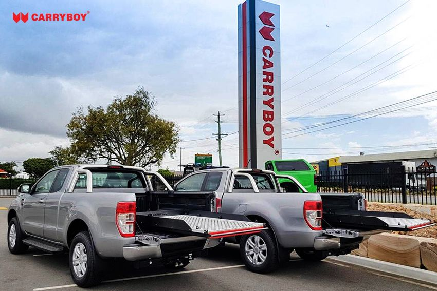 CARRYBOY Ladebodenauszug ausziehbare Ladefläche 350kg Belastung Aluminium universal bequem