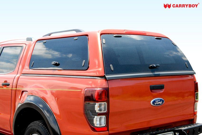 CARRYBOY GFK Hardtop SO56-FTD Schiebefenster Klappfenster Kombination mit neuem Design Ford Ranger Doppelkabine