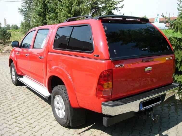 CARRYBOY Hardtop 560 mit seitlichen Schiebefenster für Toyota Hilux Vigo Doppelkabine getönt Schiebefenster