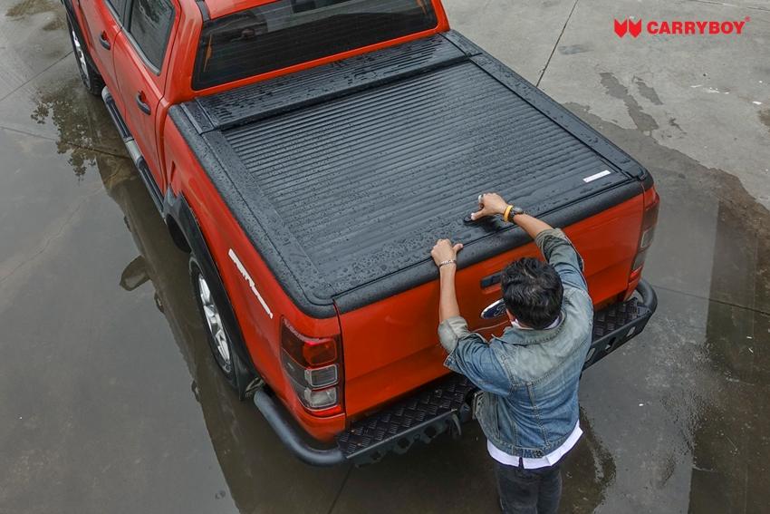 Ford Ranger Extrakabine Aluminium Rollabdeckung Rollo 789 von CARRYBOY sicher abschließbar