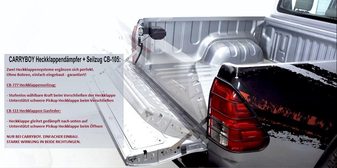 CARRYBOY Pickup Heckklappendämpfer Unterstützung Hilfe CB-105-MN Mitsubishi L200