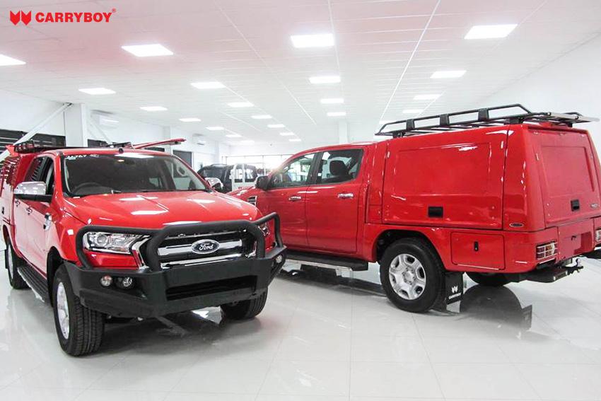 CARRYBOY Kofferaufbau CSV Karosserieumbau geschlossener Aufbau Ford Ranger Doppelkabine