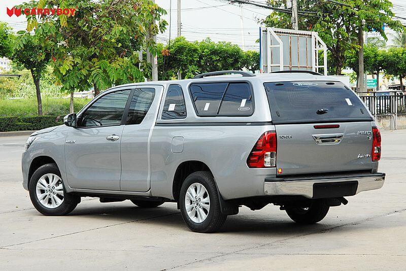 CARRYBOY Hardtop 560-TRC mit Schiebefenster Toyota Hilux Revo 2016+ Invincible 2021+ Extrakabine einfacher Aufbau